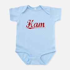 Ham, Vintage Red Infant Bodysuit