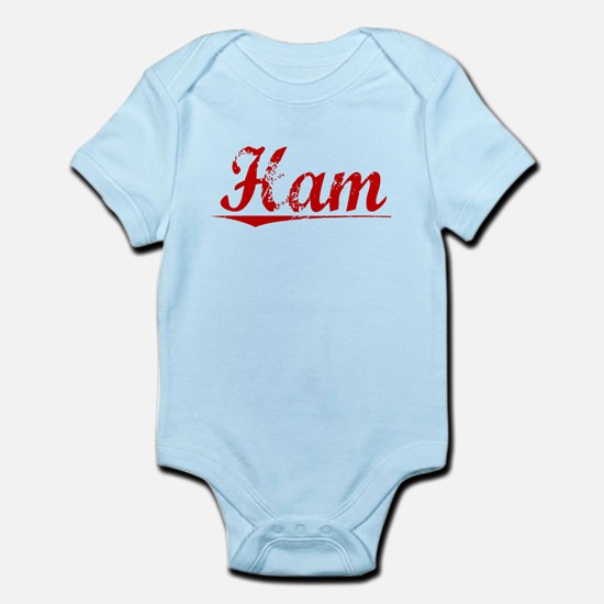 Ham, Vintage Red Infant Bodysuit