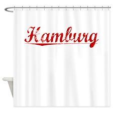 Hamburg, Vintage Red Shower Curtain