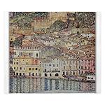 Lake Garda by Klimt King Duvet