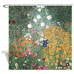 Flower Garden by Klimt Shower Curtain