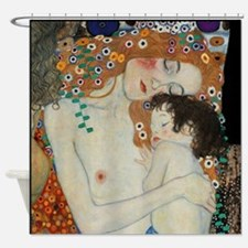 Mother and Child by Klimt Shower Curtain