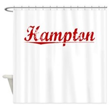 Hampton, Vintage Red Shower Curtain