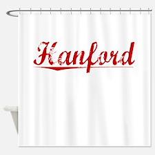 Hanford, Vintage Red Shower Curtain