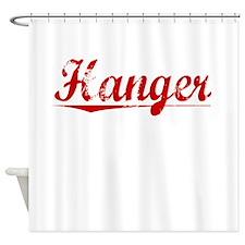 Hanger, Vintage Red Shower Curtain
