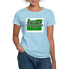 OREGON SHIRT THE BEAVER STATE Women's Pink T-Shirt