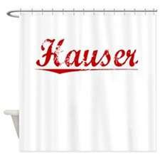 Hauser, Vintage Red Shower Curtain