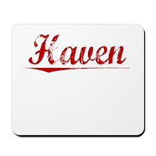 Haven, Vintage Red Mousepad