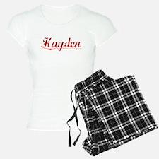 Hayden, Vintage Red Pajamas