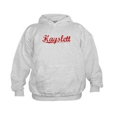 Hayslett, Vintage Red Hoodie