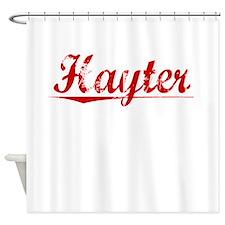 Hayter, Vintage Red Shower Curtain