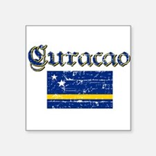 Curacao Flag Rectangle Sticker