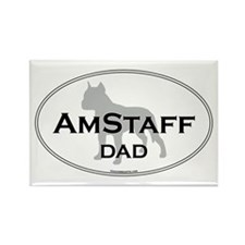 Am Staff Terrier DAD Rectangle Magnet