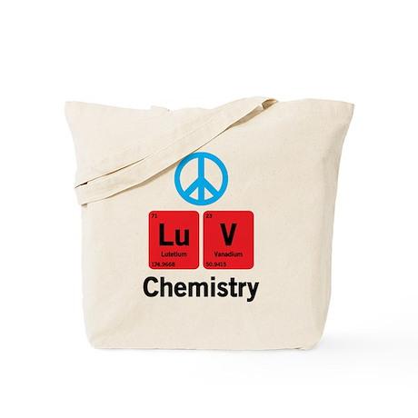 Peace LuV Chemistry Tote Bag
