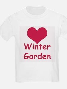 Heart Winter Garden Kids T-Shirt