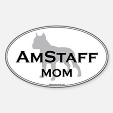 Am Staff Terrier MOM Oval Decal