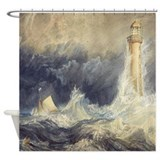 Bell rock lighthouse Shower Curtains
