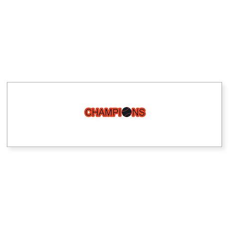 Black and Orange Champions Sticker (Bumper)