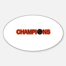 Black and Orange Champions Decal