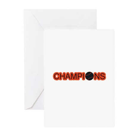 Black and Orange Champions Greeting Cards (Pk of 1