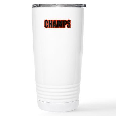 Black and Orange Champs Stainless Steel Travel Mug