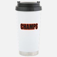 Black and Orange Champs Thermos Mug