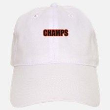 Black and Orange Champs Baseball Baseball Cap