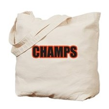 Black and Orange Champs Tote Bag
