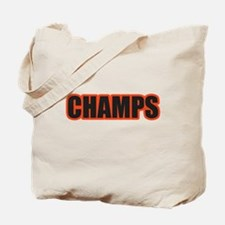Black and Orange Champs Tote Bag