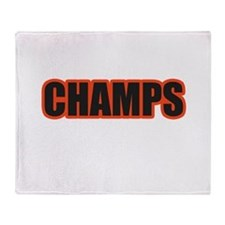 Black and Orange Champs Throw Blanket