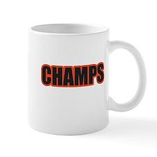 Black and Orange Champs Small Mug