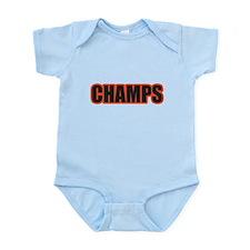 Black and Orange Champs Infant Bodysuit