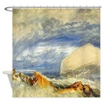 Bass Rock in Scotland by Turner Shower Curtain
