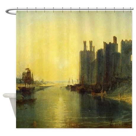 Caernarvon Castle by Turner Shower Curtain