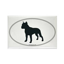 Am Staff Terrier Silhouette Rectangle Magnet