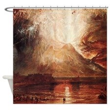 Mount Vesuvius in Eruption by Turner Shower Curtai