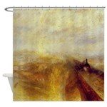 Rail Steam and Speed by Turner Shower Curtain