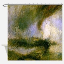 Snowstorm by Turner Shower Curtain