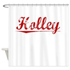 Holley, Vintage Red Shower Curtain
