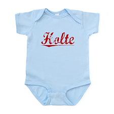 Holte, Vintage Red Infant Bodysuit