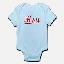 Hsu, Vintage Red Infant Bodysuit