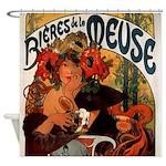 Bieres de la Meuse poster by Mucha Shower Curtain