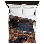 Ulysses and the Sirens by Waterhouse Queen Duvet