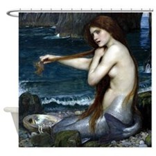 Mermaid by Waterhouse Shower Curtain