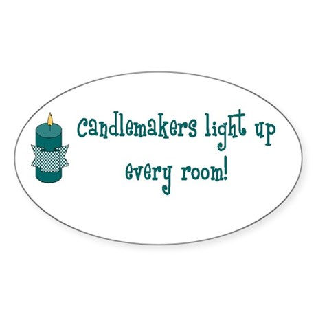 Candlemakers Light... Oval Sticker
