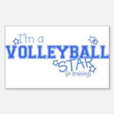 Volleyball star Rectangle Decal
