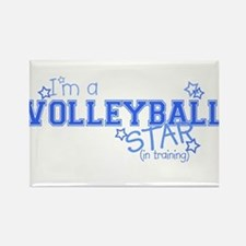 Volleyball star Rectangle Magnet