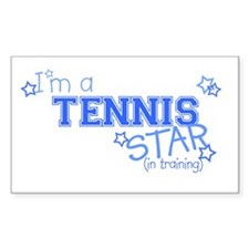 Tennis star Rectangle Stickers