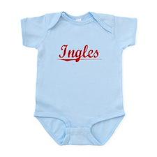 Ingles, Vintage Red Infant Bodysuit