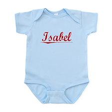 Isabel, Vintage Red Infant Bodysuit
